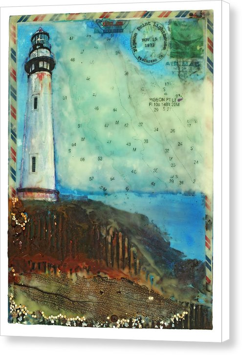 "Journey To The Lighthouse Collector Series ""Pigeon Point"" - Canvas Print"