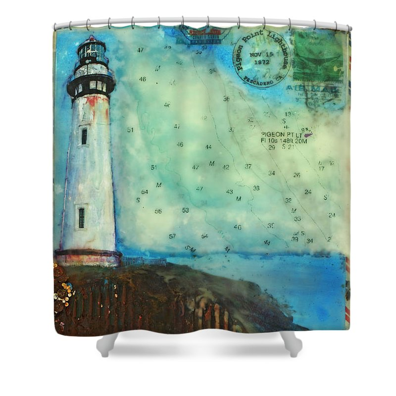 Journey To The Lighthouse Pigeon Point, Pescadero California - Shower Curtain