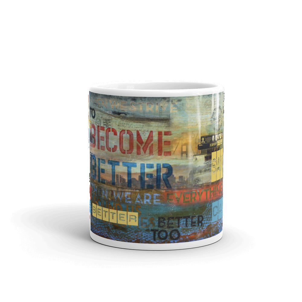 """The Alchemist Passport Collector Series: 57 Degrees San Francisco California"" Art - Mug"