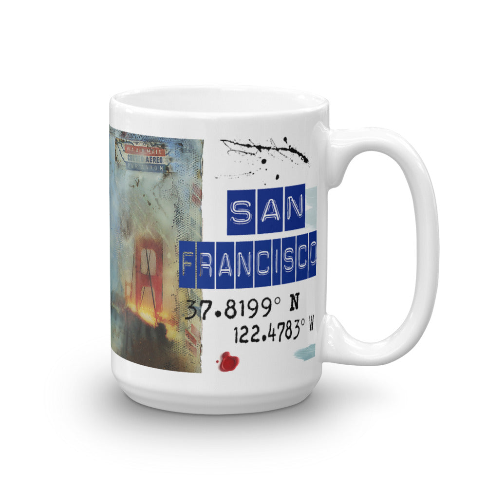 """Prayer in Hidden Depths Collector Series: San Francisco Golden Gate"" Art - Mug"