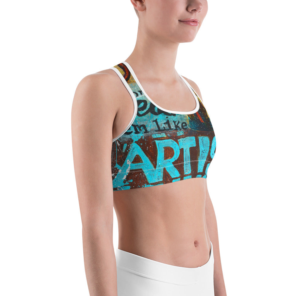 v1 Learn the Rules Like a Pro So You Can Break Them Like an Artist - Sports Bra
