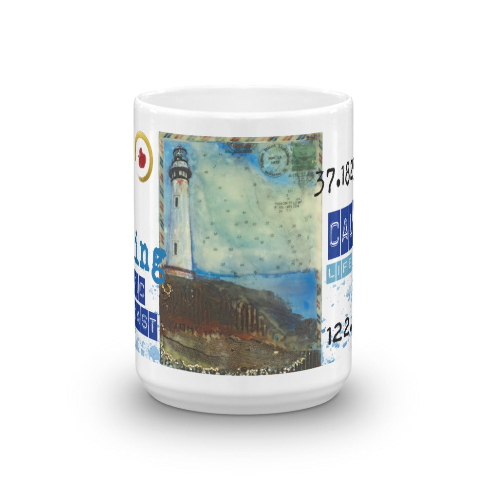"""Journey To The Lighthouse Collector Series: Pigeon Point"" Art - Mug"