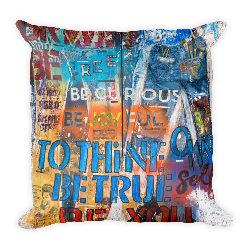 Rebel Art Academy Collector Series: Rebel Girl Jeans Diptych - Pillow