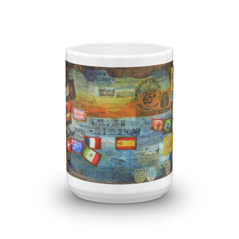 """The Alchemist Passport Collector Series: 65 Degrees Monterey California Travel"" Art Mug"