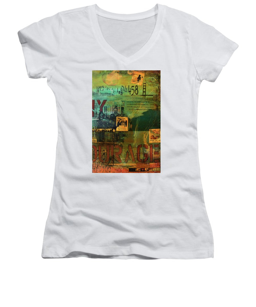 Monaghan Family Diptych - Right Side - Jocelyn Cruz Art Commission - Canvas Print - Women's V-Neck