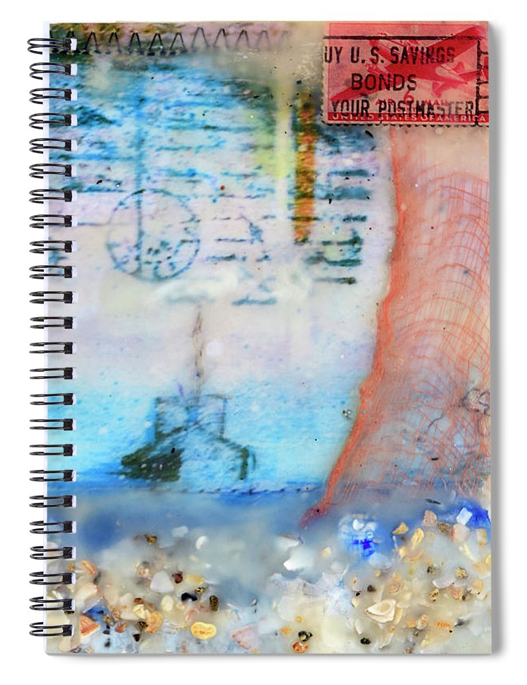 Sea Echoes Series Let The Sea Set You Free - Spiral Notebook