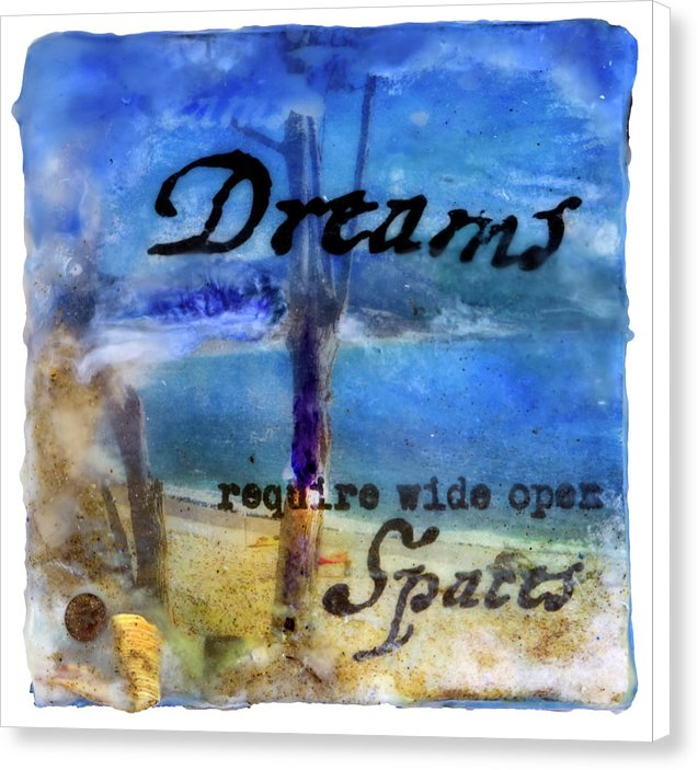 "Sea Echoes Collector Series: v1.6 ""Dreams Require Wide Open Spaces"" - Canvas Print"