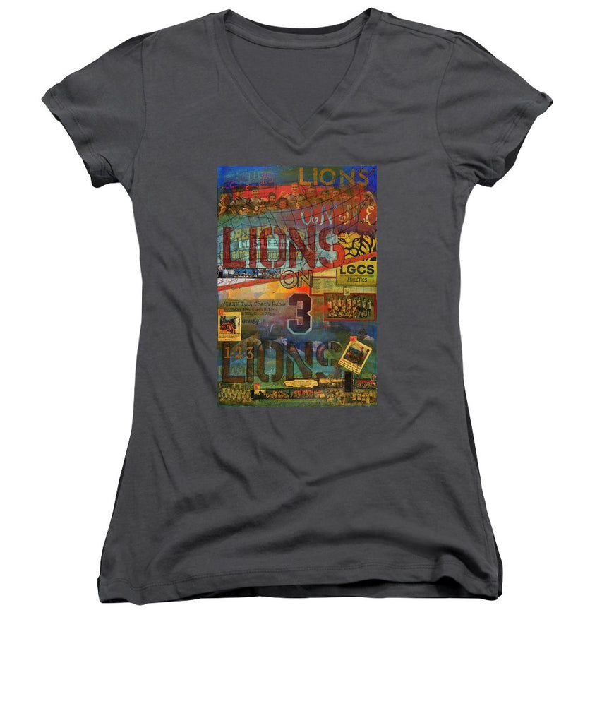 Sports - Art Commission Mixed Media Painting - Women's V-Neck