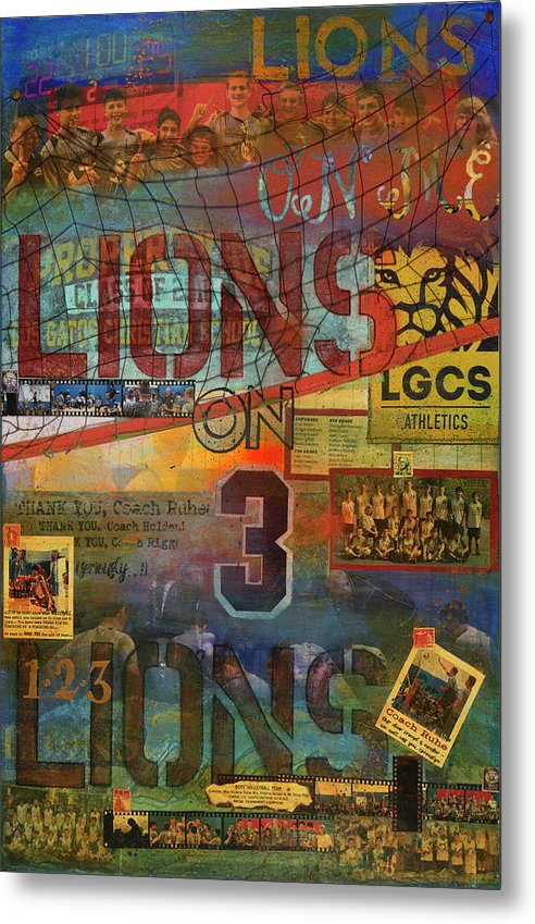 Sports - Art Commission Mixed Media Painting - Metal Print