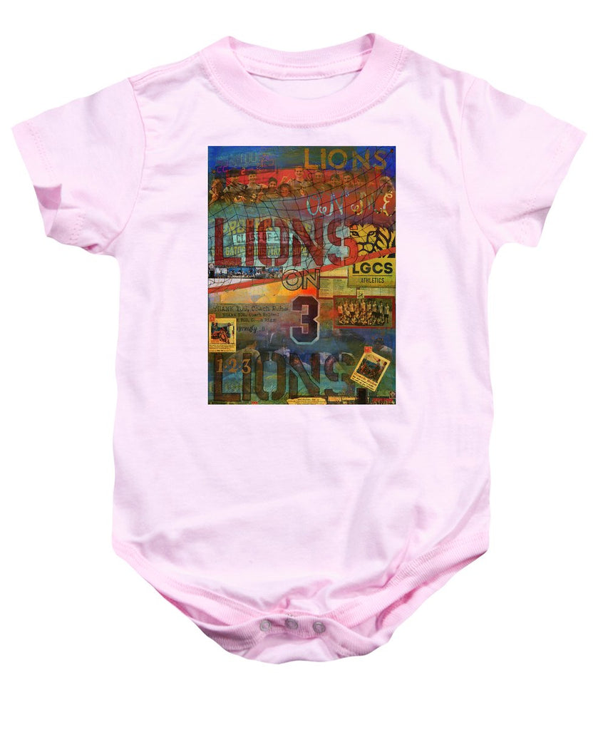 Sports - Art Commission Mixed Media Painting - Baby Onesie