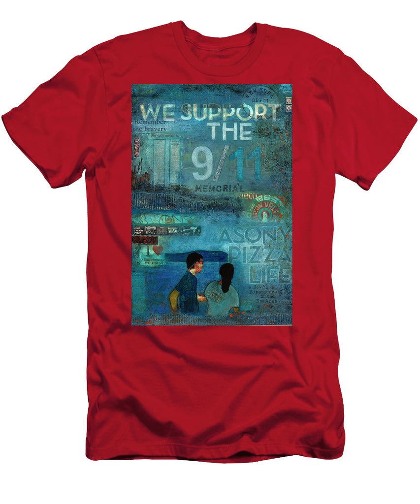 Tribute To Nyc Sept 11 Twin Towers - Men's T-Shirt (Athletic Fit)