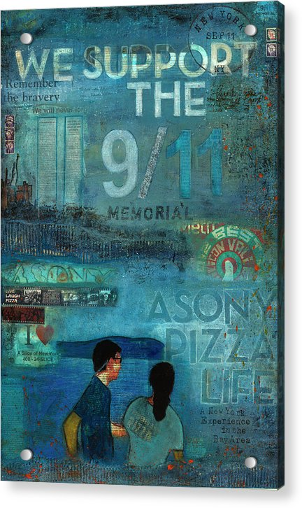 Tribute To Nyc Sept 11 Twin Towers - Acrylic Print