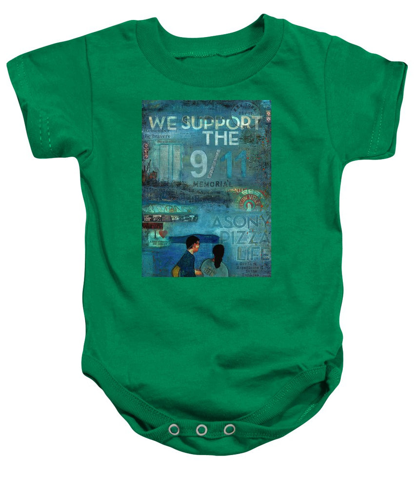 Tribute To Nyc Sept 11 Twin Towers - Baby Onesie