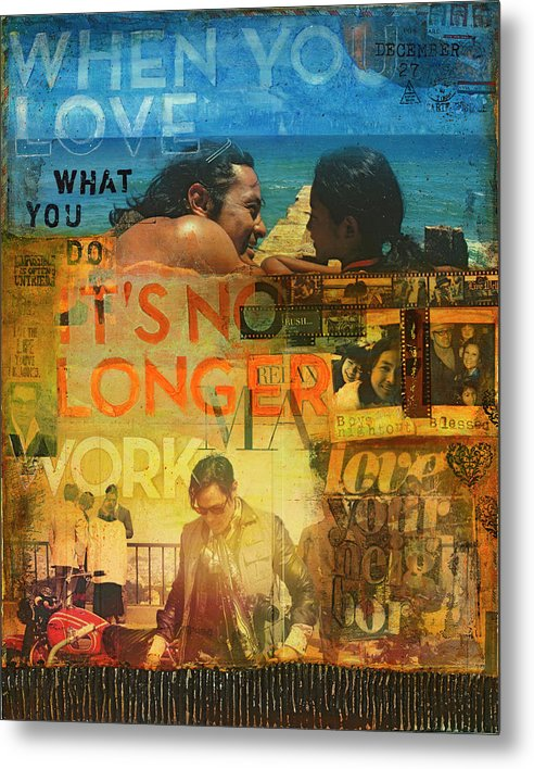 When You Love What You Do - Jocelyn Cruz Art Commission - Metal Print