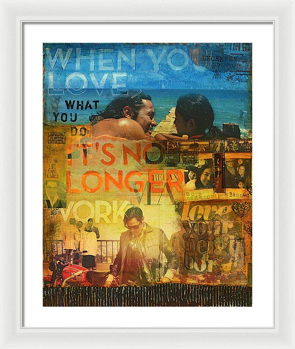 When You Love What You Do - Jocelyn Cruz Art Commission - Framed Print
