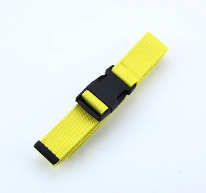 Trendy Canvas Belt with Plastic Buckle - Assorted Colours