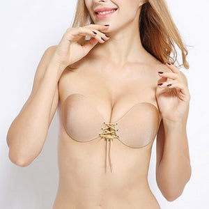 Push-Up Invisible Adhesive Bra - Assorted Colours/Styles