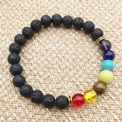 Lava Rock Chakra Bracelet - Assorted Colours