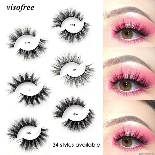 Faux Mink Handmade Reusable Eyelashes - Cruelty Free - Assorted Styles