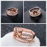 Load image into Gallery viewer, Stunning Rose Gold Cubic Zirconia Ring