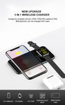 2 in 1 Premium wireless charging pad for iPhone or Airpods and Apple Watch