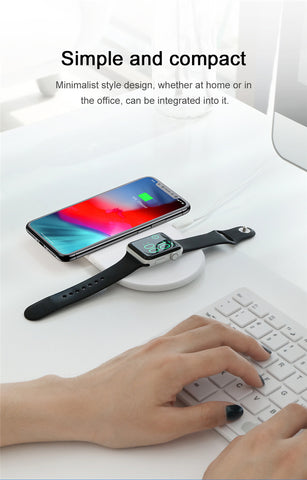 Apple iPhone & Watch Wireless Charger - SmartTech.nz