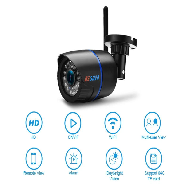 IP Wireless Outdoor Camera With MiscroSD