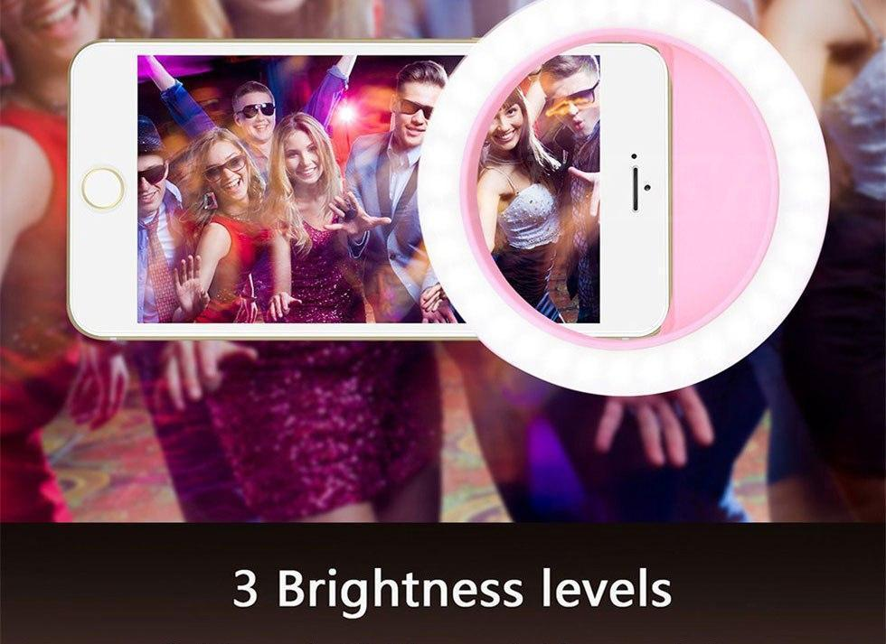 Powerful and Portable Selfie Light Ring