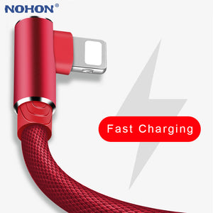 90 Degree USB Data Charger Cable For iPhone