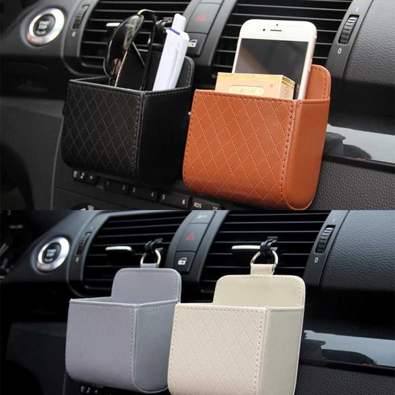 Leather Car Mobile Phone Holder