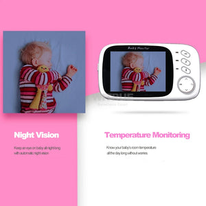 Wireless Video Baby Monitor With Night Vision