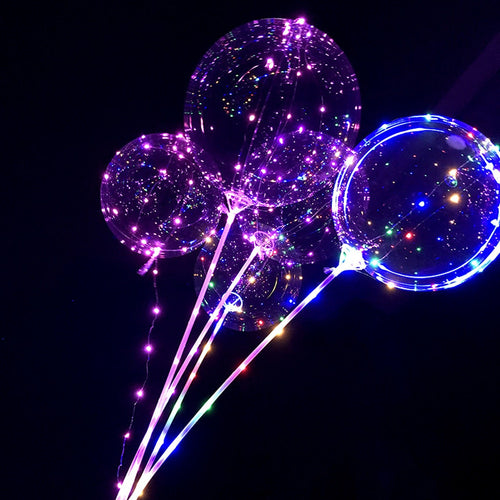 Reusable Luminous Led Transparent Balloon