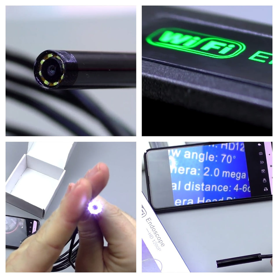 Waterproof Wifi Endoscope Camera For Phone