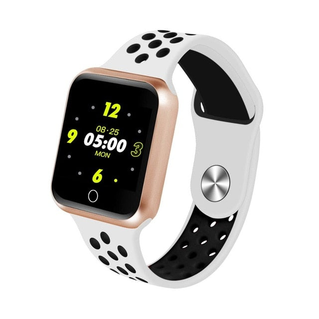 Waterproof Heart Rate Blood Pressure Smartwatch