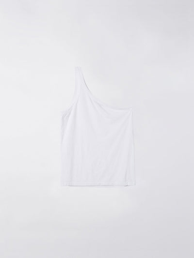 one shoulder jersey tank
