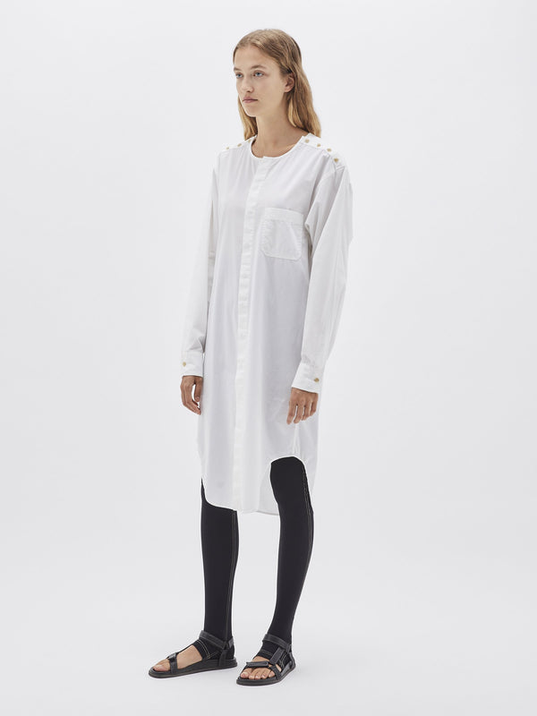 button placket shirt dress