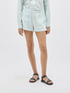 washed herringbone beach short