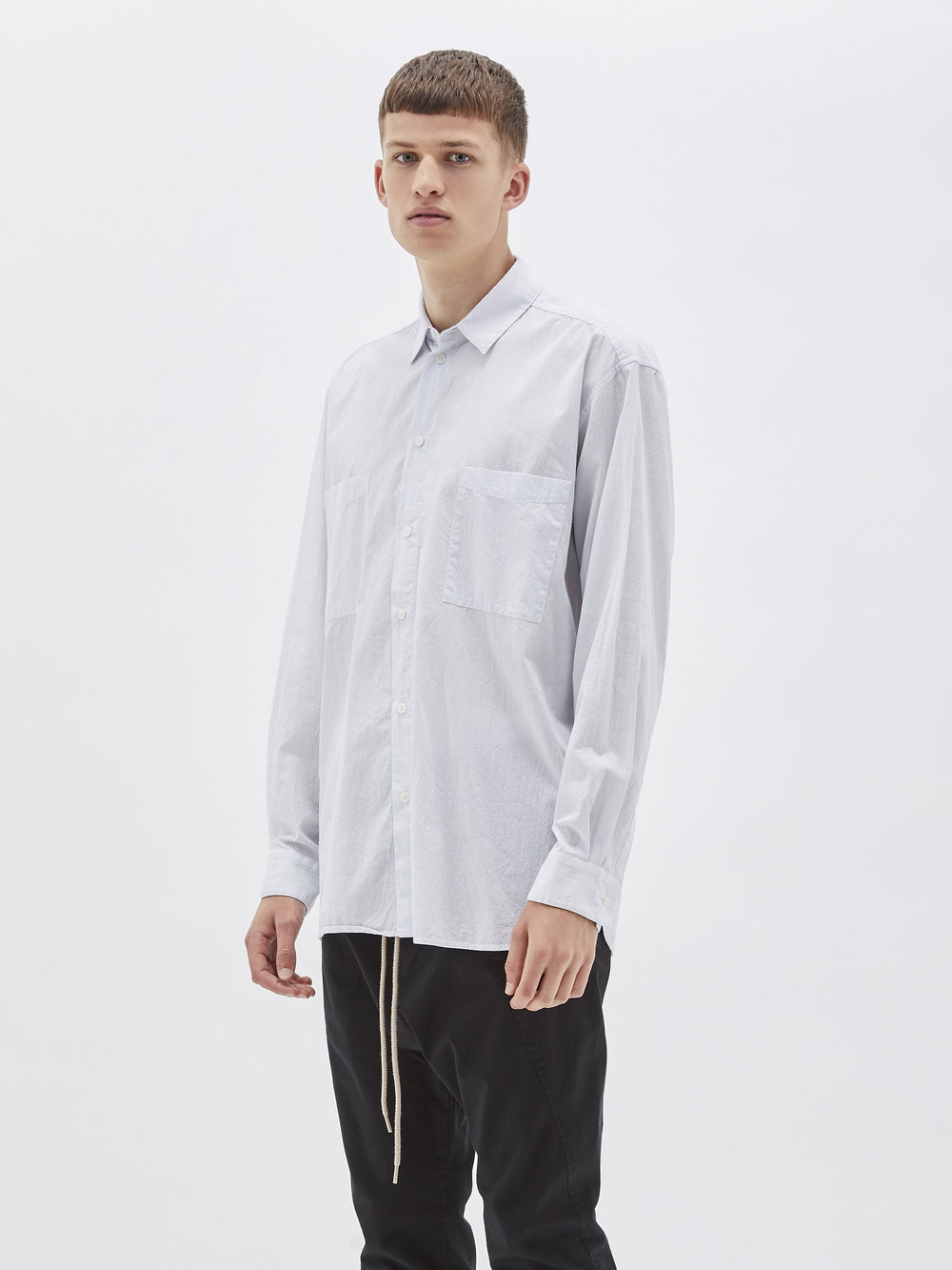 stripe pocket shirt