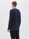denim long sleeve waffle t.shirt