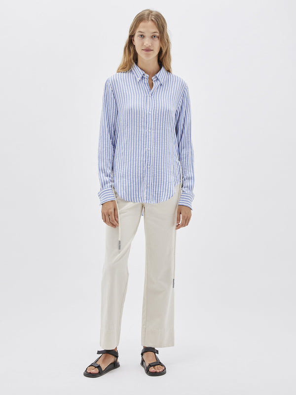 stripe tumbled viscose shirt