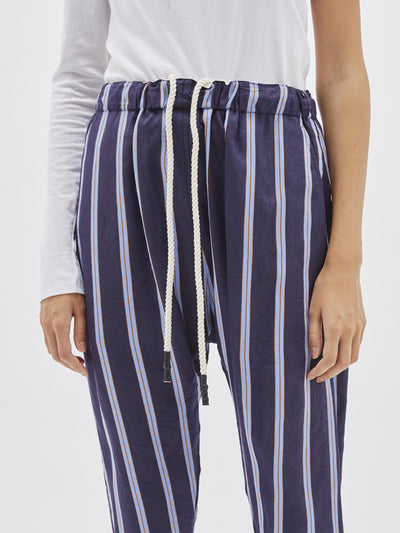 stripe easy drapey pant
