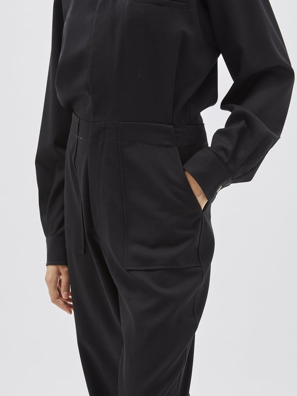 tailored utility jumpsuit