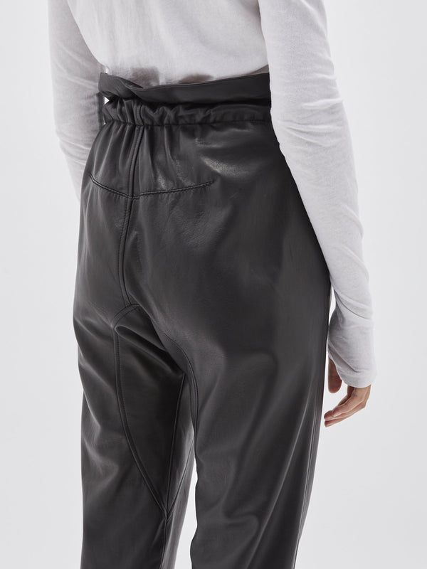 leather paper bag pant