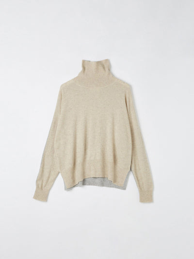 contrast turtle neck knit