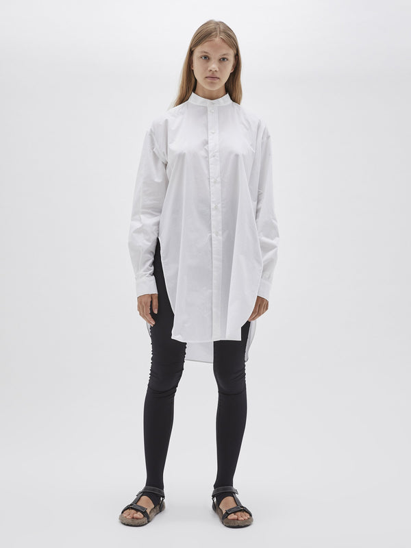 cotton split detail shirt
