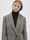 check viscose tailored jacket