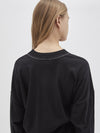 wide rib boxy long sleeve t.shirt