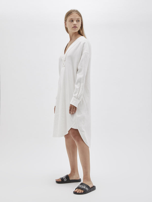 washed herringbone shirt dress