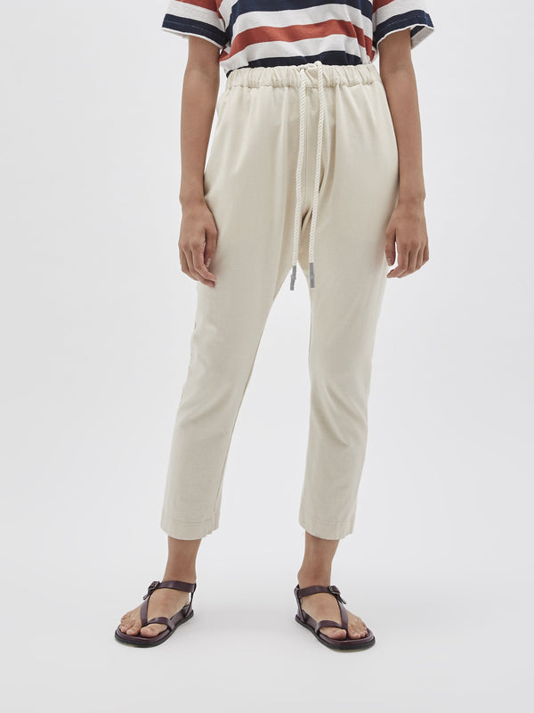 double jersey long rise pant
