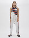 stripe side detail relaxed pant
